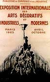 Vignette Affiche pour l'Exposition Internationale des Arts Décoratifs