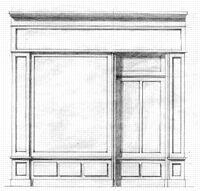 Dessin Vitrine de la galerie An. Girard