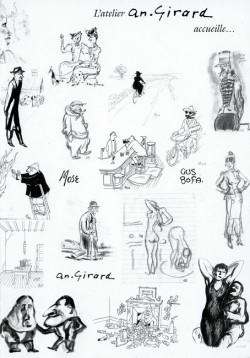 Affiche de l'exposition Gus Bofa – An. Girard – Mose